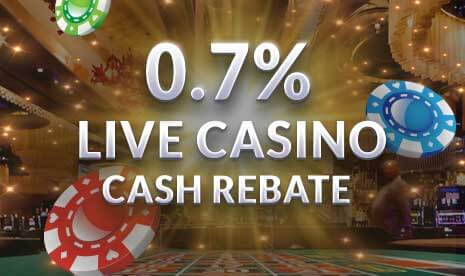 Live Casino Cash Rebate